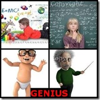 GENIUS- 4 Pics 1 Word Answers 3 Letters