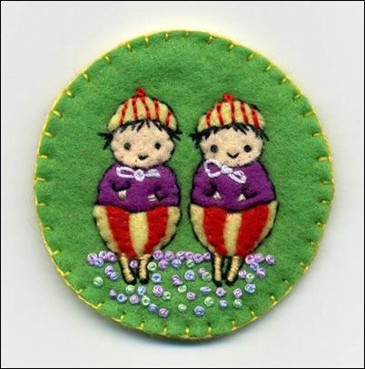 Tweedledee & Tweedledum Pin