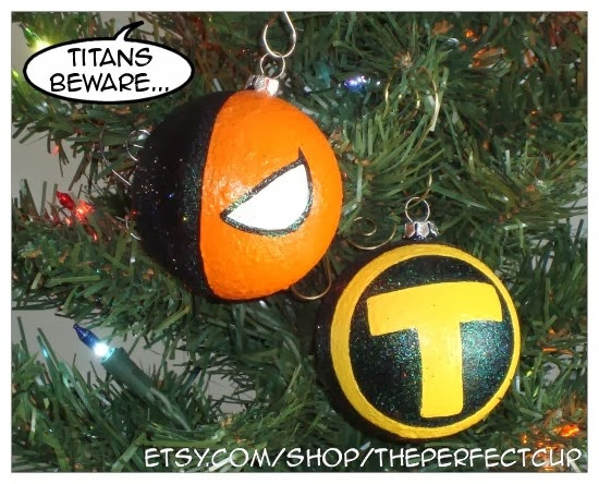 Slade and Terra Teen Titans Ornaments from The Perfect Cup