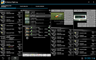 Screenshot of RC-Battery Flight Log