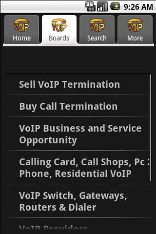 voip-termination for android screenshot