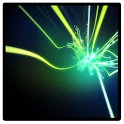Bursting fiber optics icon