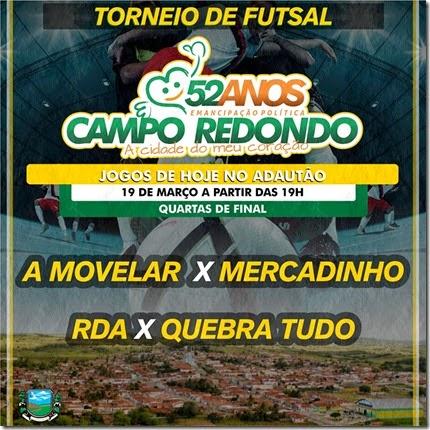 19.03 - Futsal - 52 anos Campo Redondo - VETERANOS - ATLETICO SERRANO - A MOVELAR - MERCADINHO - SALGADO - RDA - ATLETICO JR - HJ