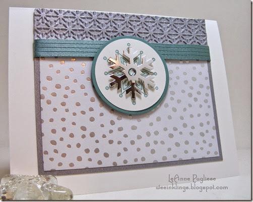 LeAnne Pugliese WeeInklings Paper Pumpkin Stampin Up Snowflake