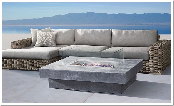Restoration Hardware Concrete fire pit