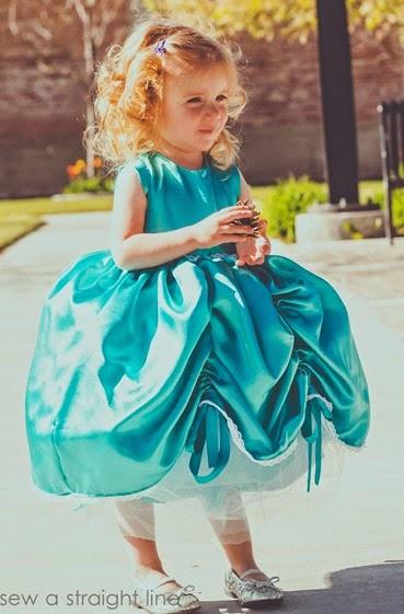 5 & 10 designs princess dress sew a straight line-2