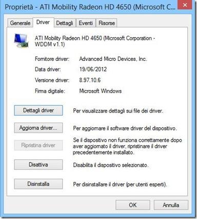 Proprietà periferica Windows