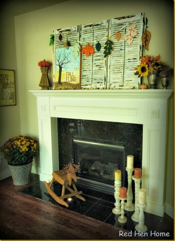 Red Hen Home Fall Mantel 7