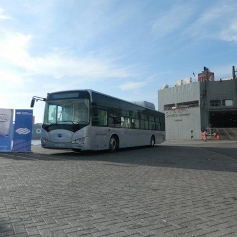 Llega a Chile el autobús eléctrico con misión de reducir los niveles de contaminación