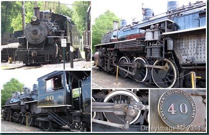 steam train collage