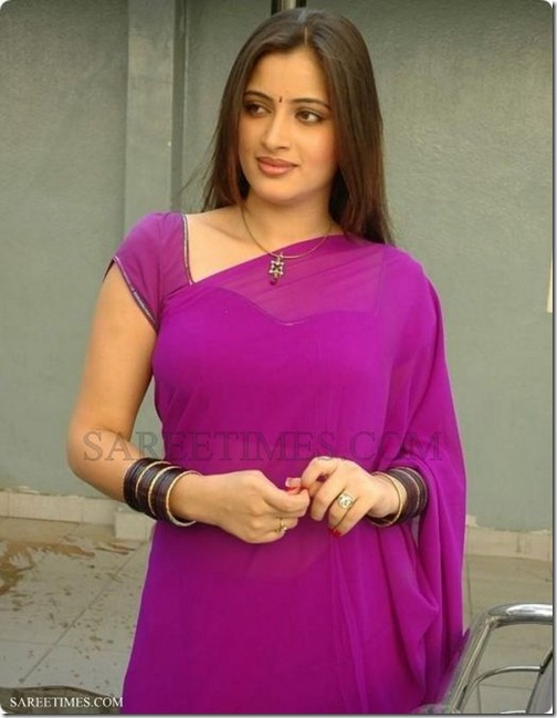 Navneet_Kaur_Purple_Plain_Saree (1)