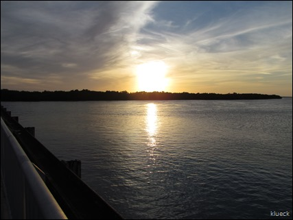 sunset off bridge
