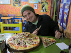 Best pizza we've had on the road - MinuteMan Pizza in Uyuni. And yes, Dyl smashed the entire pizza into his face that night.