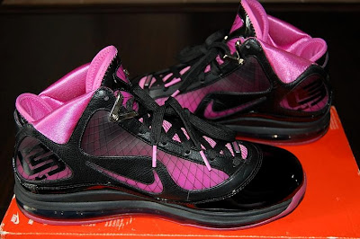 nike air max lebron 7 pe breast cancer black 2 02 Throwback Thursday: Nike LeBron VII Box Out Breast Cancer PE