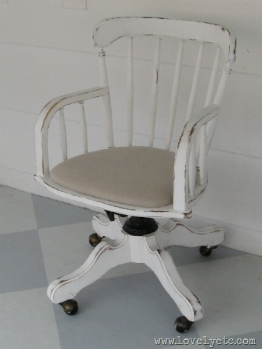 white banker's chair