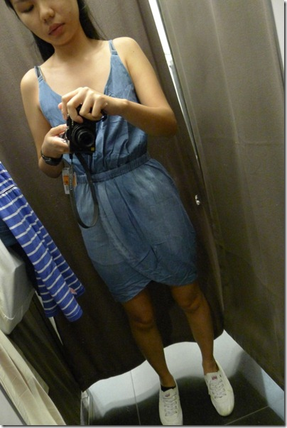 chambray spag dress