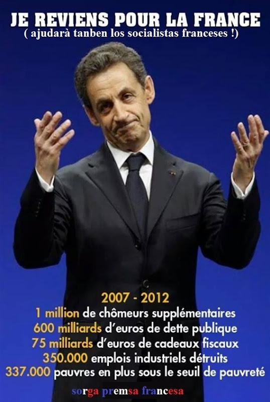 Sarkozy lo retorn en politica