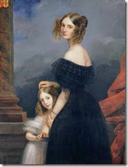 claude-marie-dubufe-anne-louise-alix-de-montmorency-con-su-hija-pintores-y-pinturas-juan-carlos-boveri