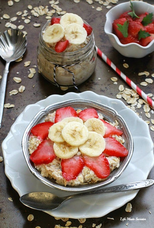 Strawberry, Banana & Coconut Overnight Oats - @LifeMadeSweeter.jpg