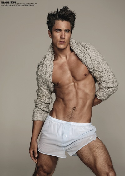 Jeremy Santucci by Matthias Vriens-McGrath for Têtu, October 2011.  Styled by Nicolas Klam