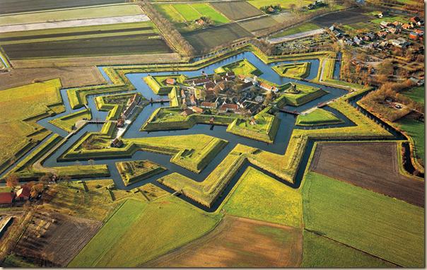 Fort Bourtange À Groningen, Pays-Bas