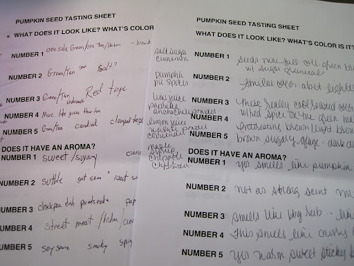 The tasting sheets. Both Monty and Steve were fans of number one and number 3.