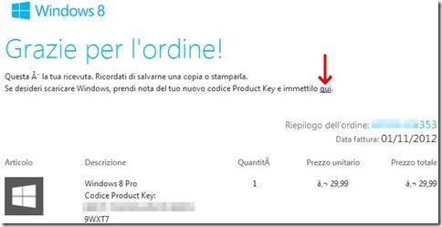 Windows 8 email della Microsoft