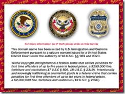 Domain Seizure Notice