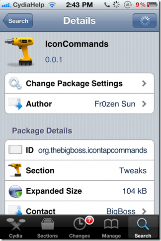 IconCommands, A Jailbreak Tweak Activates your iPhone icons