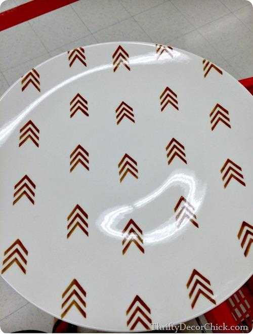 arrow platter
