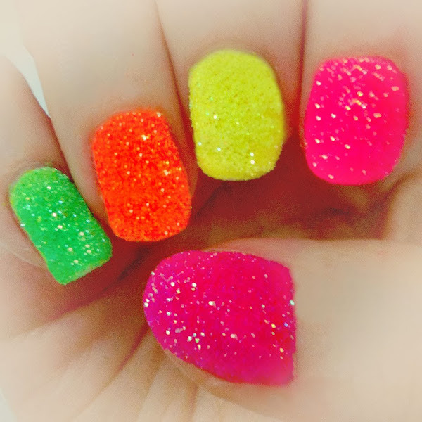 Easy Nail Polish Designs Neon Nail Polish Designs Easy