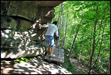 01d8 - Gorham Mtn Hike - Cadillac Cliff Trail - we crossed bridges