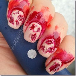 Halloween Nail Art Challenge Blut Blood Bloody Nails (6)