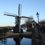 mini windmill at the zaanse schans in zaandam in Zaandam, Noord Holland, Netherlands