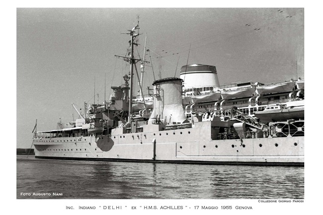 Leander-class Light Cruiser warship INS Delhi [formerly HMS Achilles (HMNZS Achilles)] of the Indian Navy