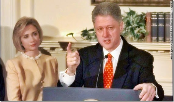 B Clinton (no sex with woman lie) Hillary behind him