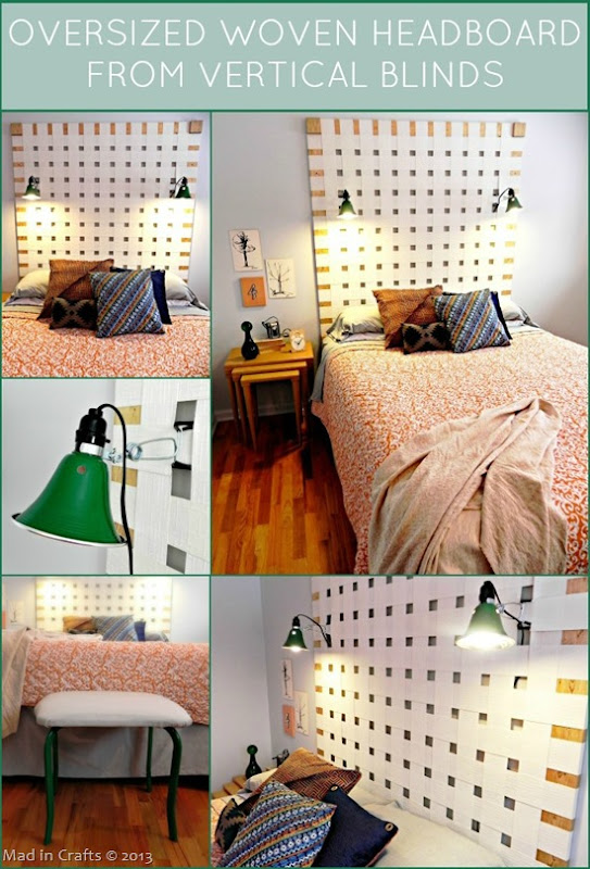 Upcycled Woven Headboard Tutorial