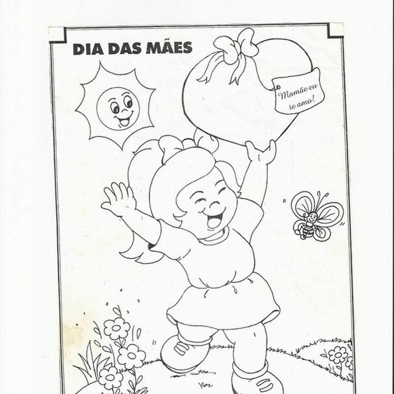 Desenho para colorir dia das mães