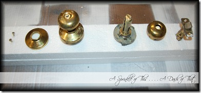 Brass doorknobs spray painting process {A Sprinkle of This . . . . A Dash of That}