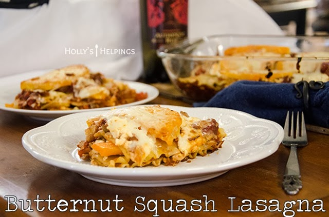 Butternut Squash Lasagna from Holly's Helpings