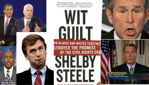 white guilt by shelby steele s essay African-american conservative steele (a dream deferred, 1998, etc) charges guilty white liberals and their black enablers with unleashing a moral relativism that is.