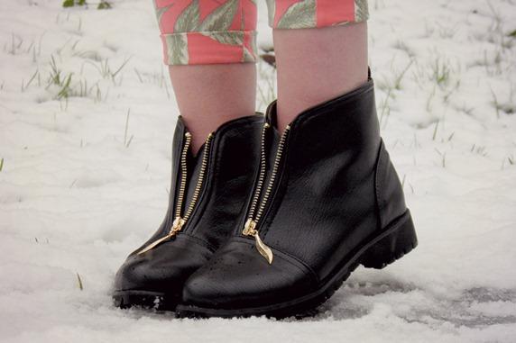 Zip front ebay boots