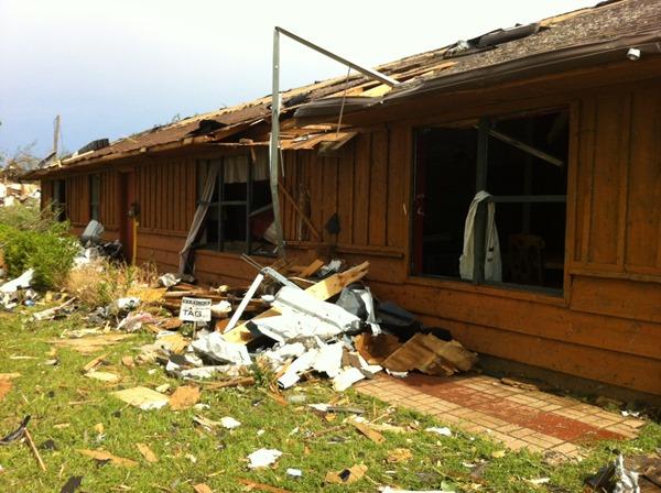 Tornado Damage Front Porch