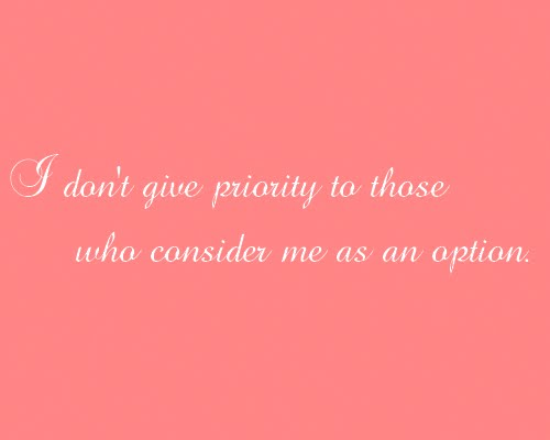 I don t give priority quote