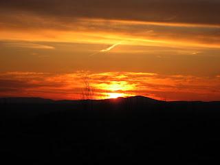 Sunset on Blue Job Mountain