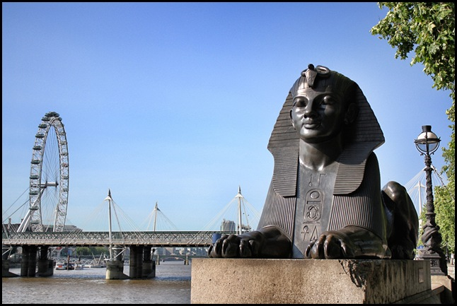 Cleopatra's Sphinx and the London Eye