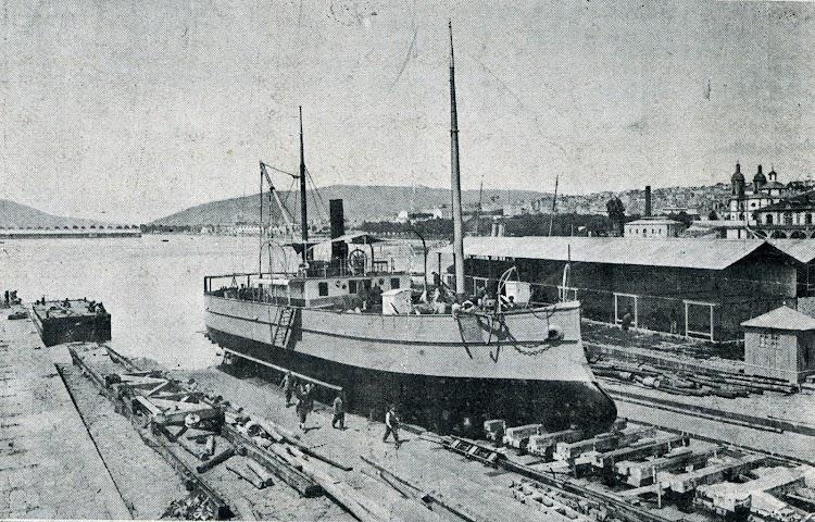 El ANITA recien reconstruido y pintado. Vida Marítima, Año IV, Num. 131, Edición de 20 de agosto de 1905.bmp