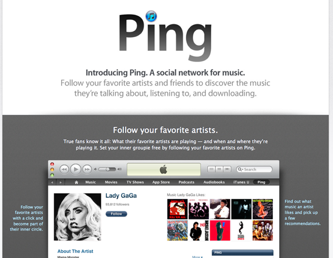 ITUNES PING