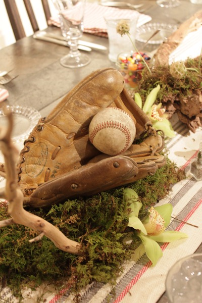 Hello Darling - Organic   Vintage Sports Bar Mitzvah, baseball mitt