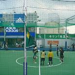 soccer field on top of tokyu department store in Shibuya, Tokyo, Japan